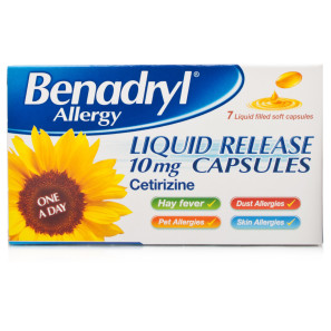 BenadrylAllergy Liquid Release 10mg Capsules