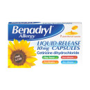 Benadryl Allergy Liquid Release 10mg Capsules 7s