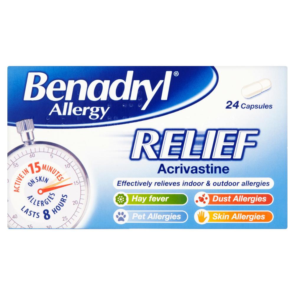 Benadryl Allergy Relief Capsules 24s