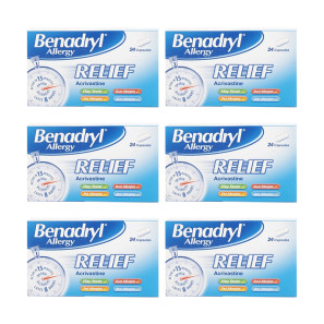 Benadryl Allergy Relief Capsules 6 Pack