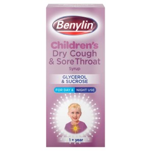 Benylin Childrens Dry Cough and Sore Throat Syrup
