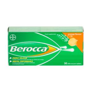 Berocca Orange Flavour Effervescent Tablets