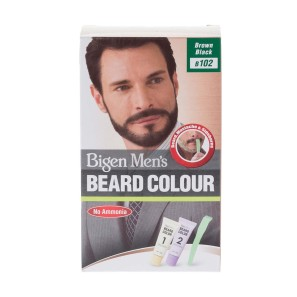 Bigen Mens Beard Colour Brown Black B102