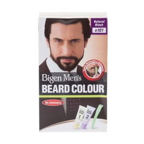 Bigen Mens Beard Colour Natural Black B01