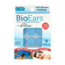 BioEars Soft Silicone Earplugs Blue