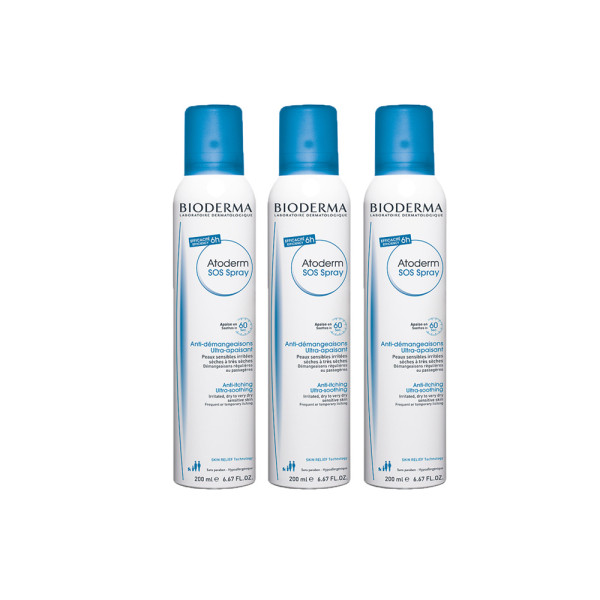 Bioderma Atoderm SOS Anti-Itching Ultra Soothing Spray Triple Pack