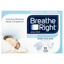 Breathe Right Congestion Relief Nasal Strips Clear Small/Medium 10s