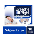 Breathe Right Congestion Relief Nasal Strips Original Large 10s