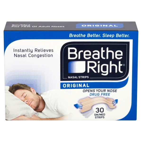 Breathe Right Congestion Relief Nasal Strips Original Small/Medium