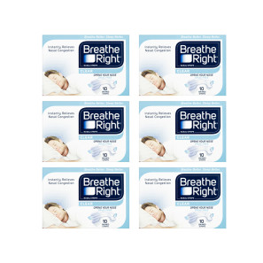 Breathe Right Nasal Strips Clear Small/Medium Six Pack