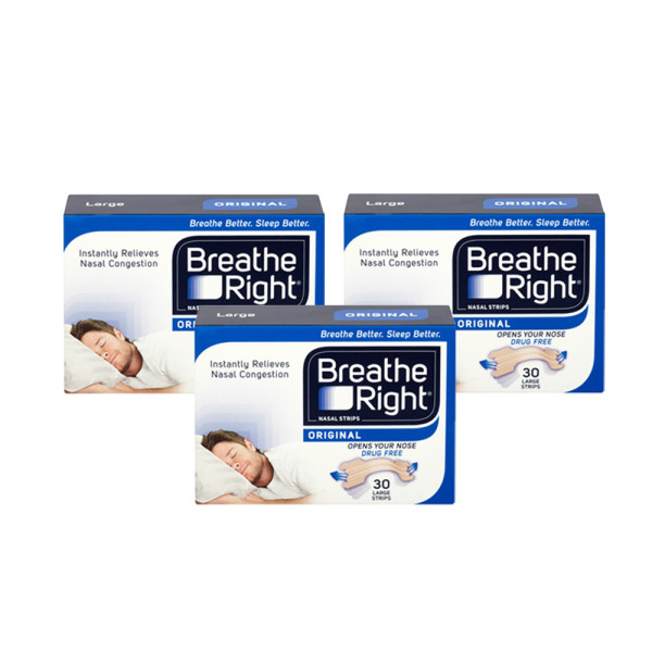 Breathe Right Nasal Strips Original Large Triple Pack