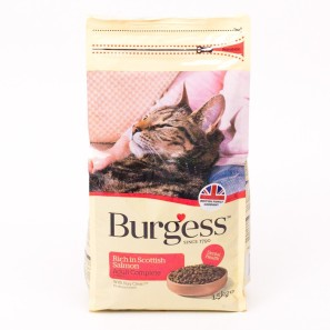 Burgess Cat Food Rich in Scottish Salmon