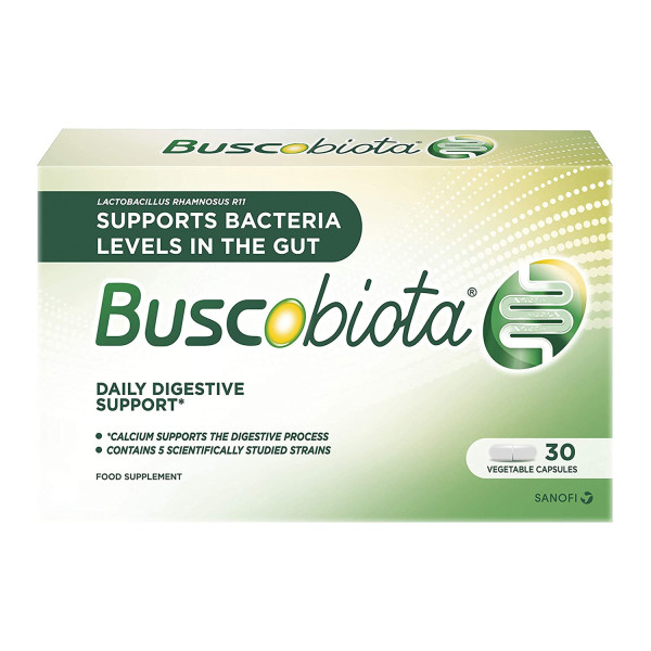 BuscoBiota Digestive Supplement Multi-Strain, Good Bacteria and Calcium