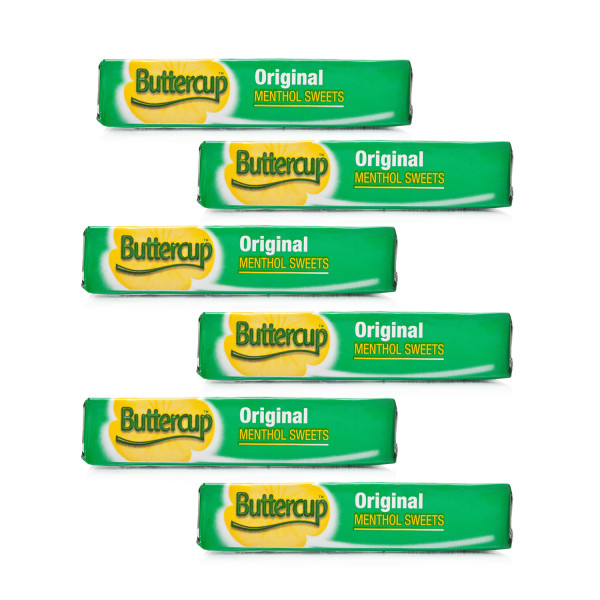 Buttercup Original Menthol Sweets 6 Pack