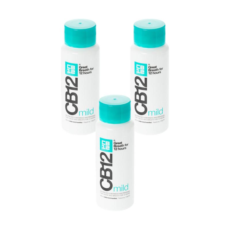 CB12 Mild Mint-Menthol Mouthwash Triple   Bad Breath   Chemist Direct