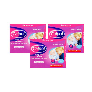 Calpol Infant Strawberry Suspension Sachets - Triple Pack