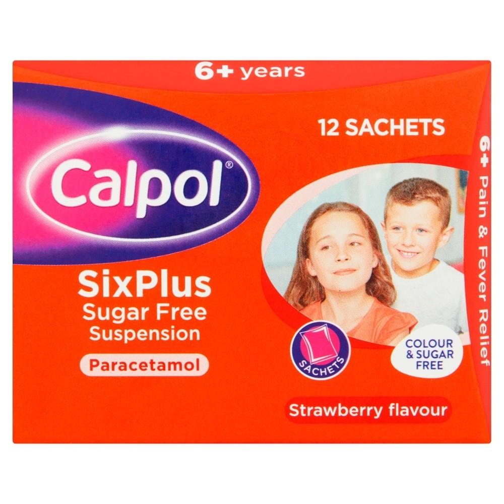Calpol Six Plus Sugar Free Suspension Sachets 12 x 5ml