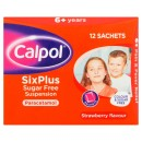 Calpol Six Plus Sugar Free Suspension Sachets