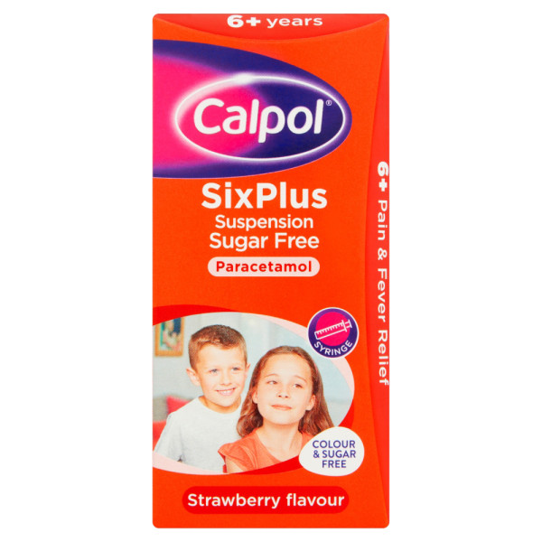 Calpol Six Plus Suspension Sugar Free