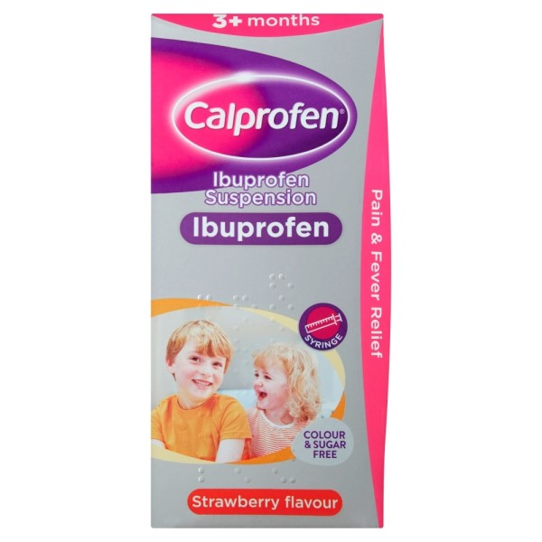 Calprofen Ibuprofen Suspension 200ml 3+ Months
