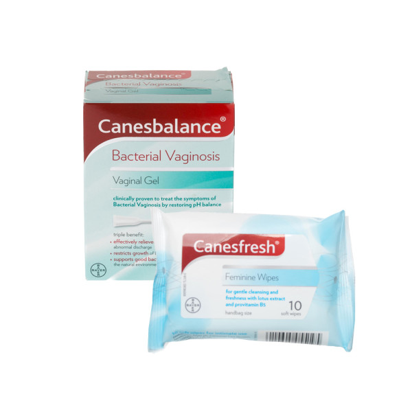 Canesbalance Bacterial Vaginosis Vaginal Gel & Canesten Canesfresh Feminine Wipes