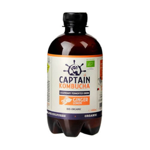 Captain Kombucha Ginger and Lemon Bio Organic Drink