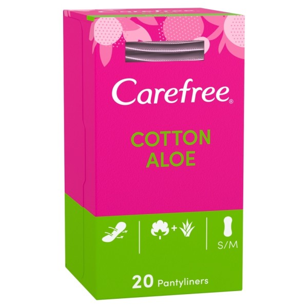 Carefree Cotton Aloe Pantyliners