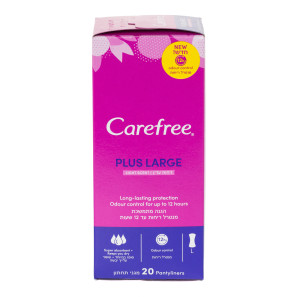 Carefree Plus Large Light Scent Pantyliners 20s