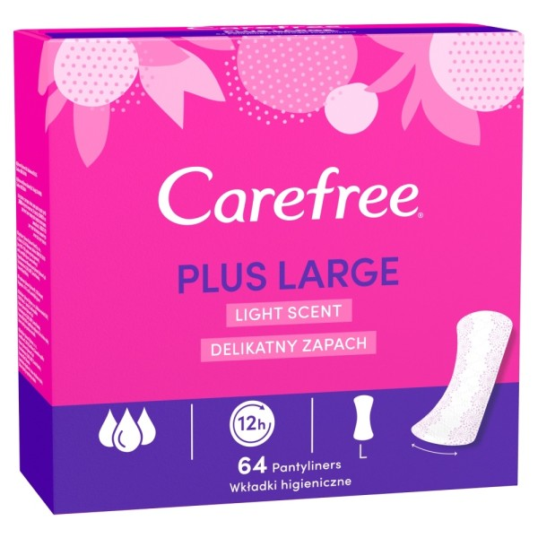Carefree Plus Large Light Scent Pantyliners