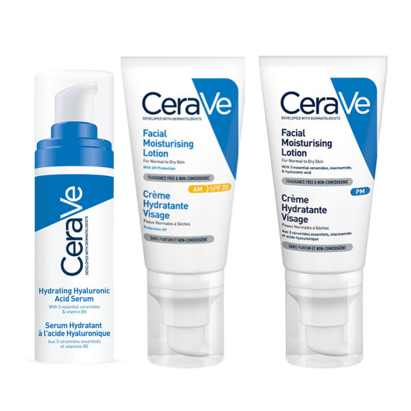CeraVe Facial Hydration Trio 3 Step Routine