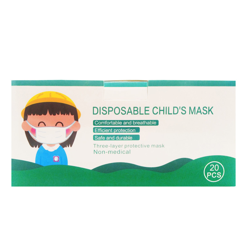 Childrens Disposable Patterned Face Coverings
