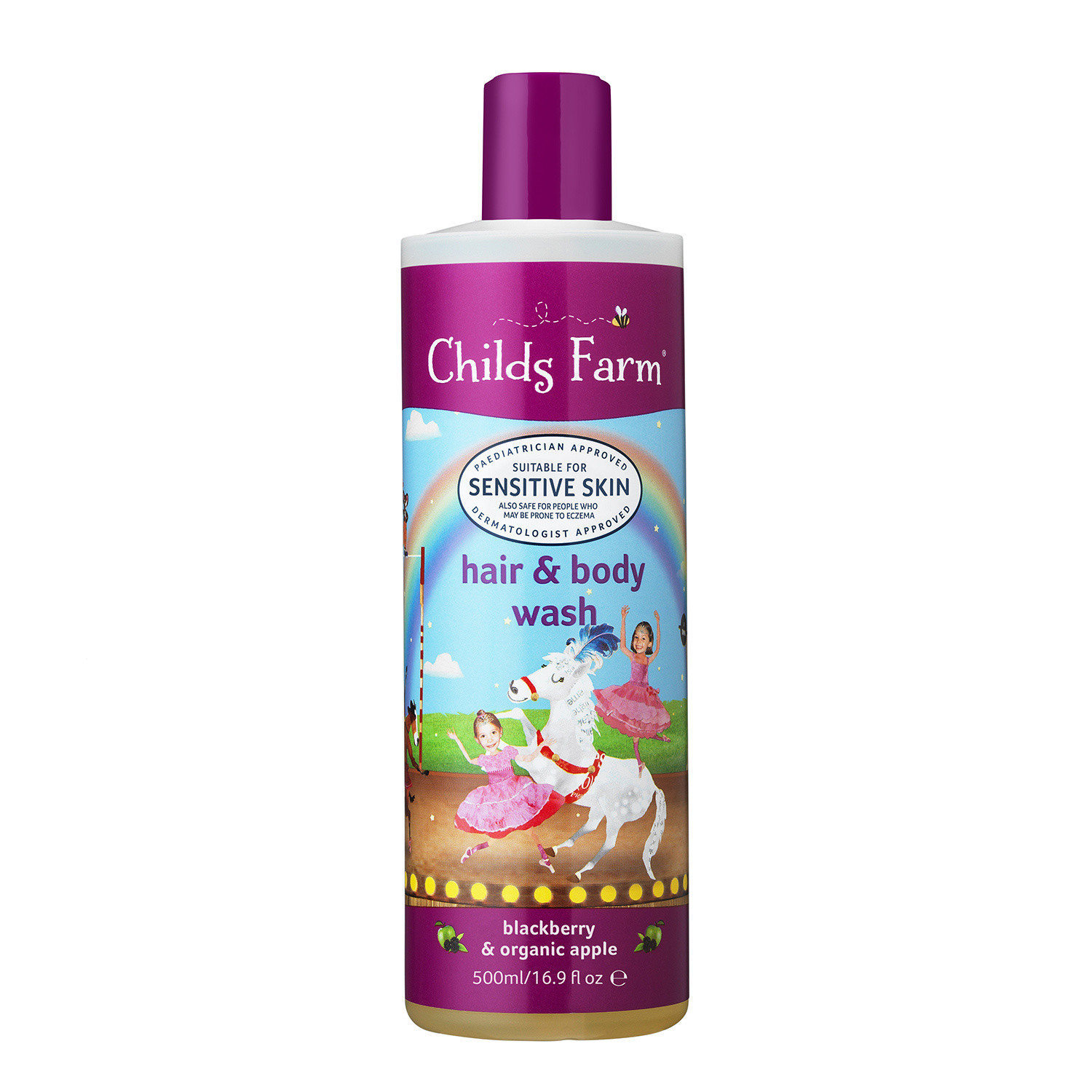 Childs Farm Blackberry & Organic Apple Extract Hair and Body Wash