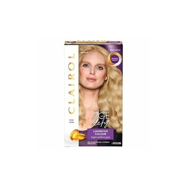 Clairol Age Defy Hair Dye, 9 Light Blonde