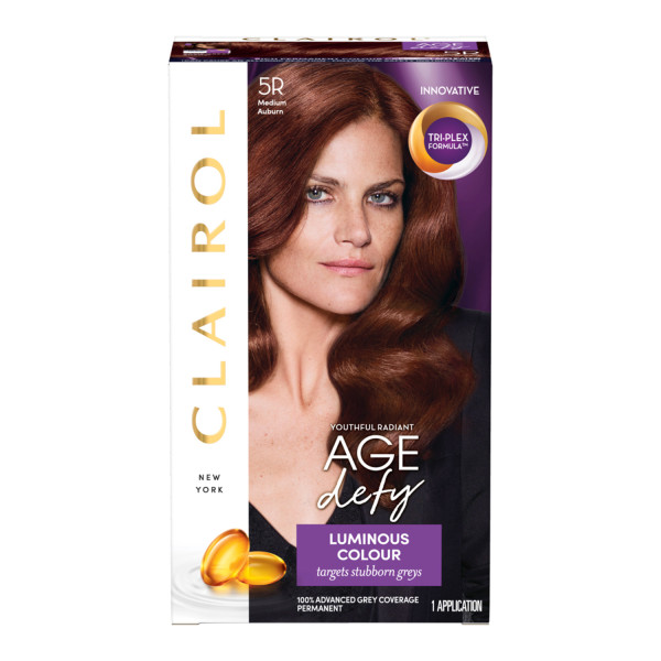 Clairol Age Defy Hair Dye, 5R Medium Auburn