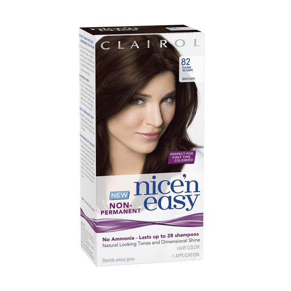 Clairol Nice n Easy No Ammonia Hair Dye Dark Warm Brown 82
