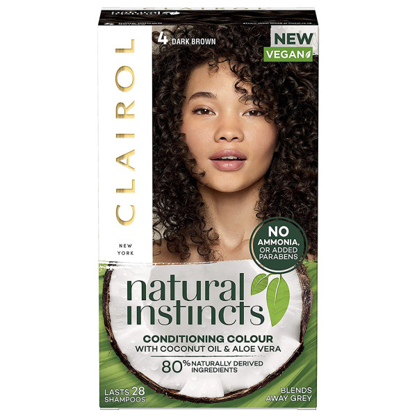 Clairol Natural Instincts Hair Dye, 4 Dark Brown