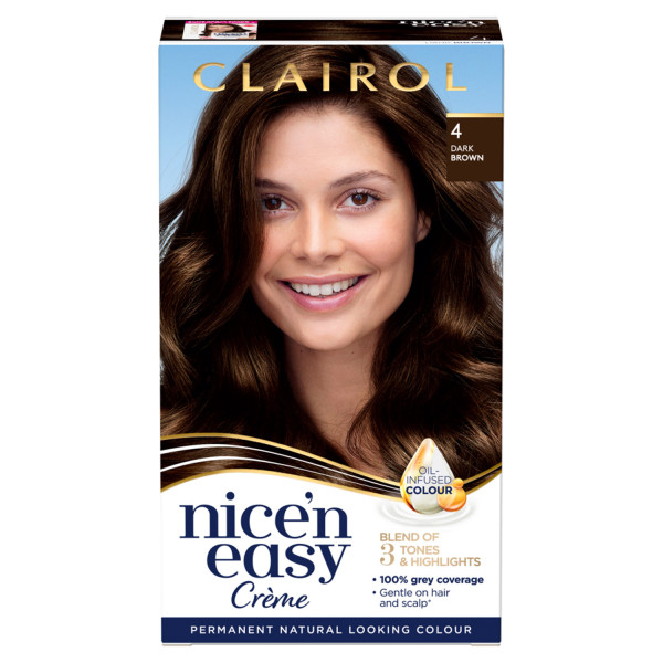 Clairol Nicen Easy Hair Dye, 4 Dark Brown