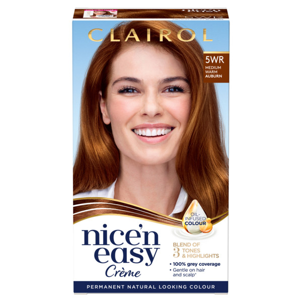 Clairol Nicen Easy Hair Dye, 5WR Medium Warm Auburn