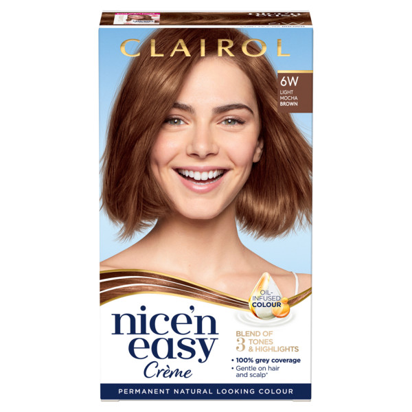 Clairol Nicen Easy Hair Dye, 6W Light Mocha Brown