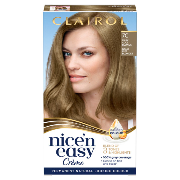 Clairol Nicen Easy Hair Dye, 7C Dark Cool Blonde