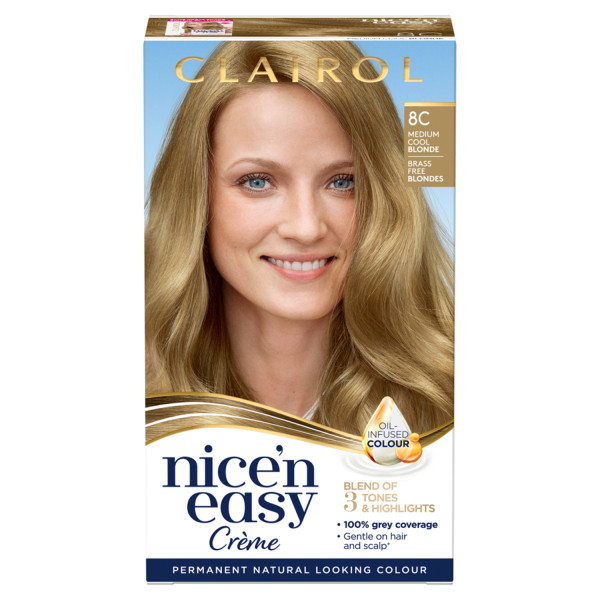 Clairol Nicen Easy Hair Dye, 8C Medium Cool Blonde