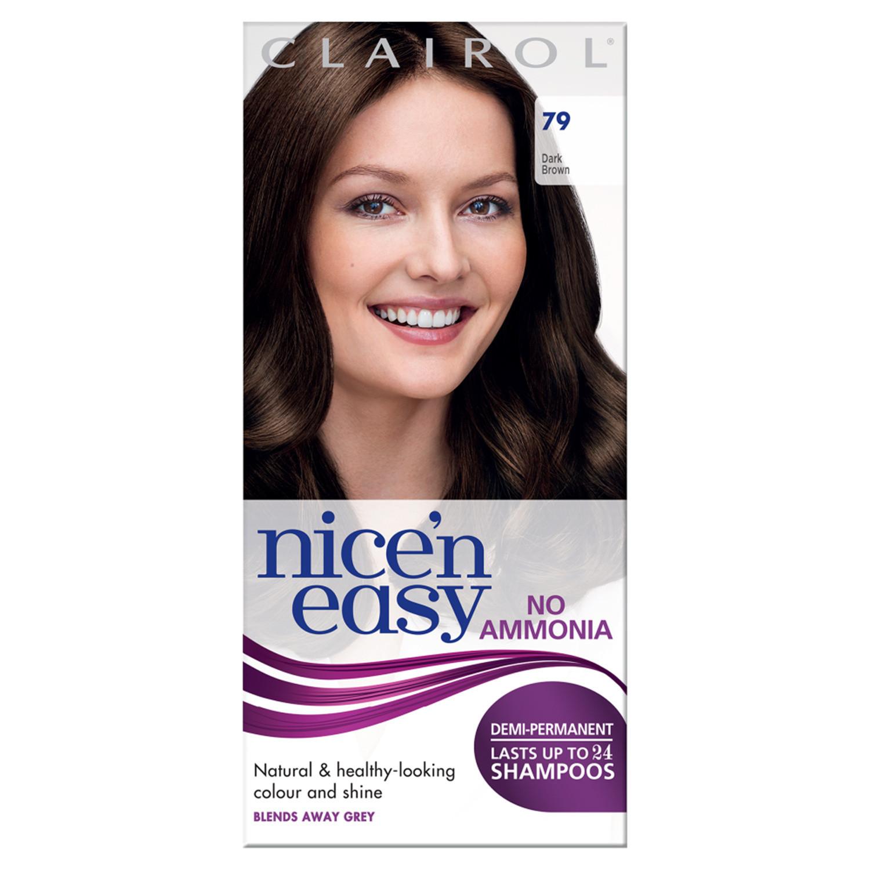 Clairol Nice'n Easy No Ammonia Hair Dye 79 Dark Brown