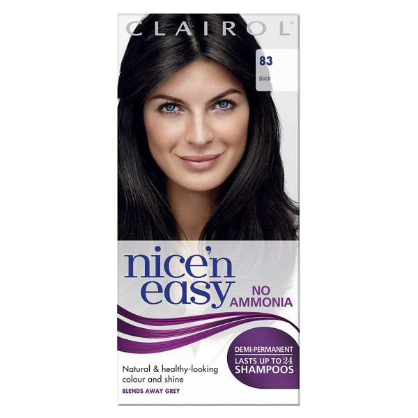 Clairol Nicen Easy No Ammonia Hair Dye, 83 Black