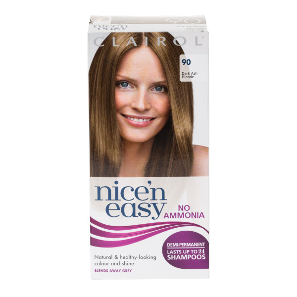 Clairol Nicen Easy No Ammonia Hair Dye, 90 Dark Ash Blonde