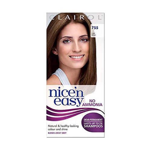 Clairol Nice'n Easy No Ammonia Hair Dye 755 Light Brown