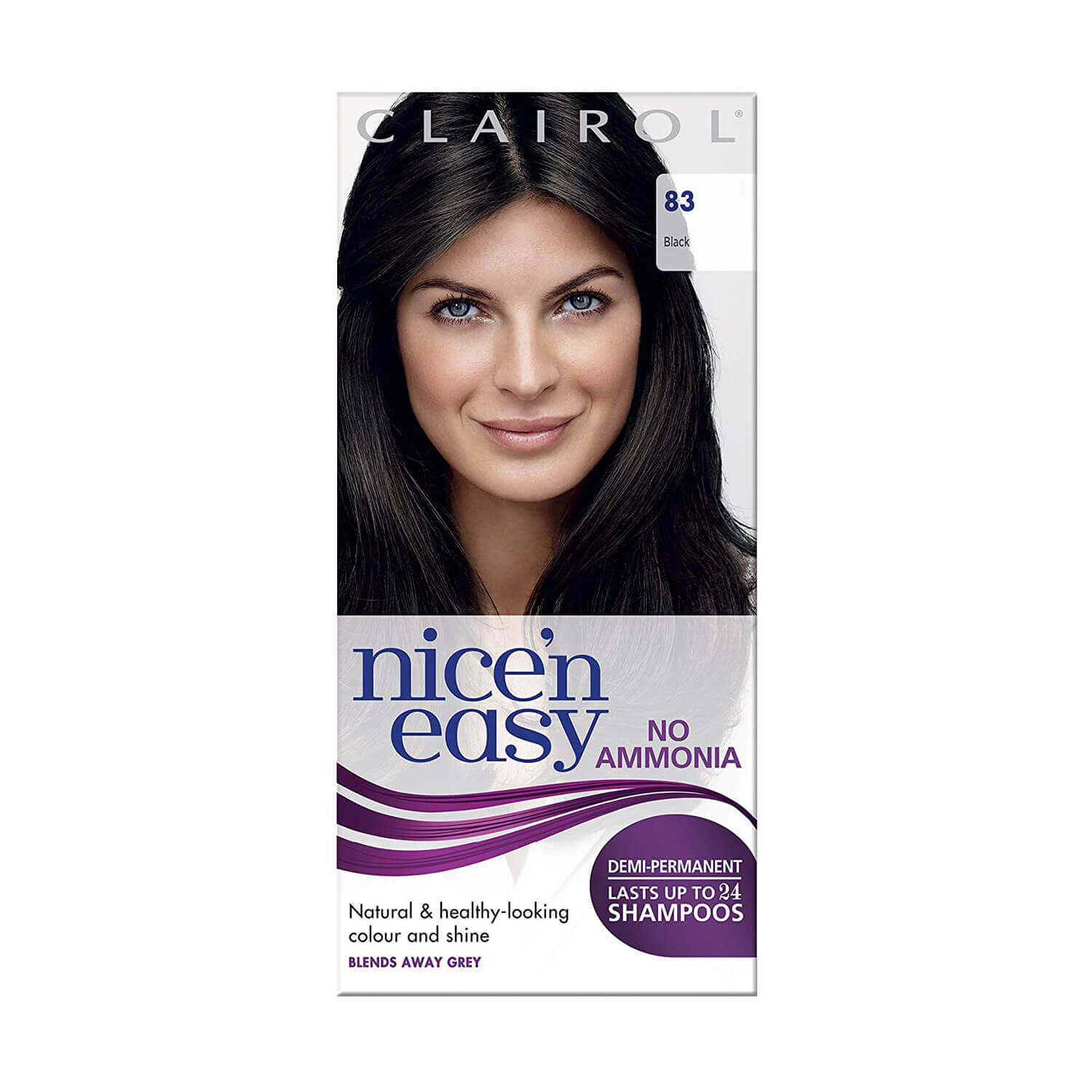 Image of Clairol Nice 'N Easy No Ammonia Hair Dye Black 83