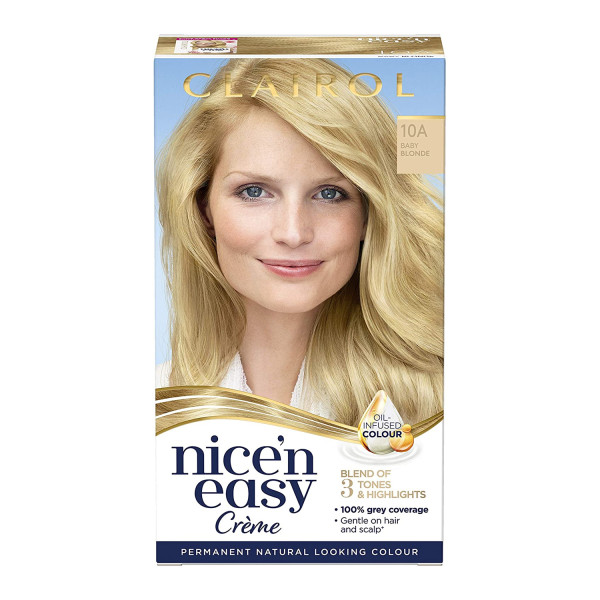 Clairol Nice n Easy Baby Blonde Permanent Hair Dye Colour 10A