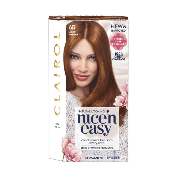 Clairol Nice n Easy Light Auburn Permanent Hair Colour 6R