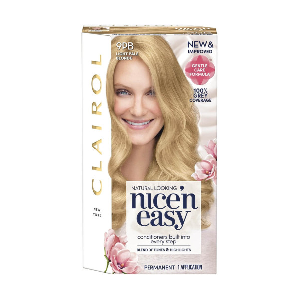 Clairol Nice n Easy Light Pale Blonde Permanent Hair Colour 9PB