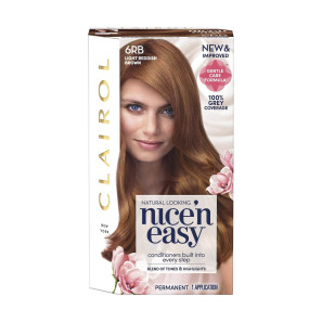 Clairol Nice n Easy Light Reddish Brown Permanent Hair Colour 6RB